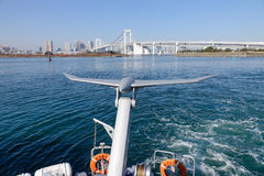 The Tokyo Cruise boat on Tokyo Bay Royalty Free Stock Photo