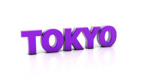 Tokyo in 3d Royalty Free Stock Photography