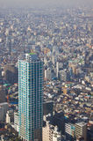 Tokyo-dichte Stadtlandschaft stockbild