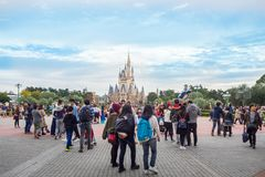 Tokyo Disney landen Halloween-Festival: AM 24. OKTOBER 2017: LOCATI stockbilder