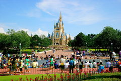 Tokyo Disneyland Cinderella Castle Main building. Disneyland Its purpose is to set the historical knowledge, fairy tales, natural scenery and the culmination of Stock Image