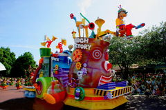 Tokyo Disneyland Dream joyous parade of all kinds of fairy tales and cartoon characters Royalty Free Stock Photography