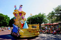 Tokyo Disneyland Dream joyous parade of all kinds of fairy tales and cartoon characters Royalty Free Stock Photos