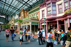 Tokyo Disneyland dynasty era Victorian-style street door to the world of fairs. Tokyo Disneyland is known as Asia's first amusement park, is the world's existing Royalty Free Stock Photo