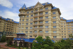 Tokyo Disneyland Hotel. Tokyo, Japan - May 29, 2013: The Tokyo Disneyland Hotel, the fourth Disneyland Hotel, was designed to reflect early 20th century royalty free stock photography