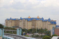 Tokyo Disneyland hotell royaltyfria foton