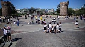 Tokyo Disneyland i Japan arkivfilmer