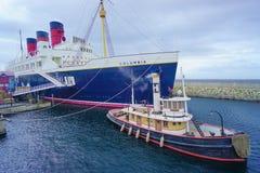 Tokyo DisneySeas SS Kolumbien am amerikanischen Ufergegendbereich des Parks stockfotografie