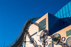 Tokyo Dome City – Mall with Roller Coaster. Tokyo Dome City – Mall with a Roller Coaster Royalty Free Stock Images