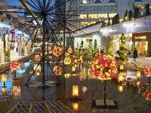 Winter Illuminations in Korakuen. Tokyo Dome in Korakuen in Tokyo, Japan is one of the places where in winter are fabulous seasonal illuminations stock photography