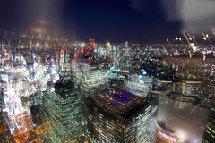 Tokyo dreams. Bird's eye view from observatories on the 45th floor of Tokyo Metropolitan Government Building at night, Japan Stock Photo