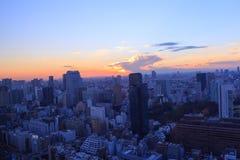 Tokyo at dusk Royalty Free Stock Images