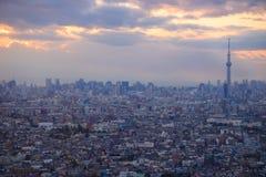 Tokyo at dusk Royalty Free Stock Photography