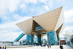 Tokyo för Tokyo internationell utställningmitt stor sikt i Ariake, Tokyo Arkivfoton