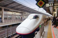 Tokyo fast train Royalty Free Stock Photos