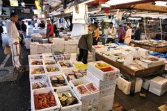 Tokyo-Fischmarkt Stockfoto