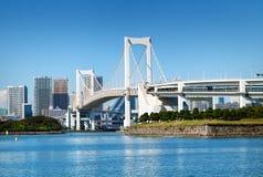 Tokyo fjärd och Odaiba område Royaltyfria Foton