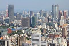 Tokyo flyg- sikt Royaltyfri Bild