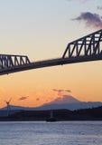 Tokyo Gate Bridge and Fuji mountain Royalty Free Stock Photo