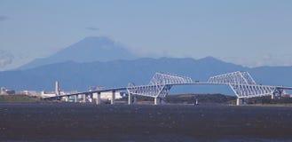 Tokyo gate bridge and Mountain Fuji Stock Image