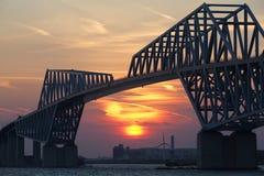 Tokyo gate bridge and Mountain Fuji Royalty Free Stock Photo