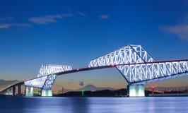 Tokyo gate bridge and Mountain Fuji Royalty Free Stock Photos