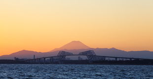 Tokyo gate bridge and Mountain Fuji Stock Photos