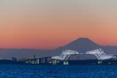 Tokyo gate bridge and Mt.Fuji Stock Photography