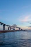 Tokyo Gate Bridge at sunset time Royalty Free Stock Images