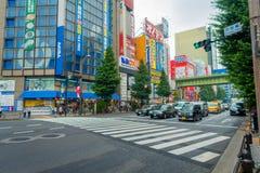 TOKYO, GIAPPONE 28 GIUGNO - 2017: Bella vista del distretto di Akihabara a Tokyo, Giappone Il distretto è una zona commerciale im Fotografia Stock