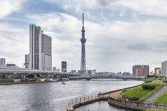 TOKYO, GIAPPONE - 25 MAGGIO 2013: Tokyo Skytree è un nuovo televisi Fotografia Stock