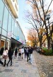 Tokyo, Giappone - 24 novembre 2013: La gente che compera alla via di omotesando Fotografia Stock Libera da Diritti