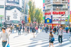 TOKYO, GIAPPONE - 17 novembre 2016: Shinjuku è uno del busine di Tokyo Fotografia Stock