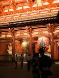 Tokyo, Giappone 8 settembre 2018 -: Kaminarimon, grande caduta della lanterna sopra il portone al tempio di Senso-ji Nuovo anno a Immagini Stock Libere da Diritti