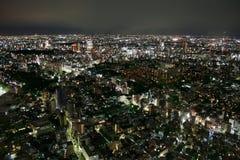 Tokyo (Giappone) - vista dalle colline di Ropponghi Immagini Stock Libere da Diritti