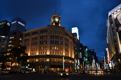 Tokyo Ginza Nightview Stock Photos