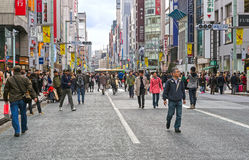 Tokyo Ginza Shopping District Royalty Free Stock Images