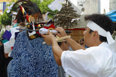 TOKYO, HACHIOJI - AUGUST 10, 2005: Annual summer festival. Stock Photography