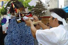 TOKYO, HACHIOJI - 10. AUGUST 2005: Jährliches Sommerfestival Stockfotografie