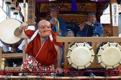 TOKYO, HACHIOJI - 10. AUGUST: Jährliches Sommerfestival Hyottoko-Zeigung in Hachioji, Tokyo am 10. August 2005 Lizenzfreies Stockbild