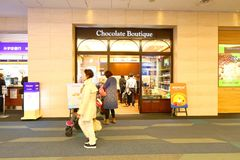 Tokyo: Haneda airport after immigration check in retail area. stock images