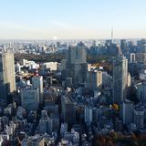 Tokyo. High above the Ritz Carlton overlooking the city Stock Image