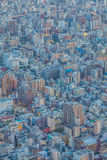 Tokyo high building and residential house Stock Image