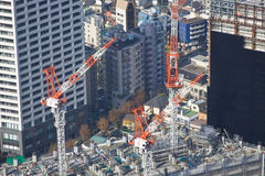 Tokyo high rise construction Royalty Free Stock Photo