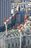 Tokyo high rise construction royalty free stock photos