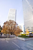 Tokyo high rise plaza Royalty Free Stock Photo