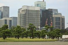 Tokyo horisont från imperialistisk slott Arkivbild