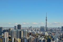 Tokyo horisont - Skytree fotografering för bildbyråer