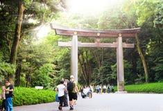 Tokyo il Giappone 1° giugno 2016: Meiji-jingu Fotografie Stock