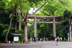 Tokyo il Giappone 1° giugno 2016: Meiji-jingu Fotografia Stock Libera da Diritti
